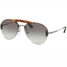 Prada Sunglasses Metal Plaque Evolution PR62US 2990A7 Light Havana/Gunmetal - $186.30