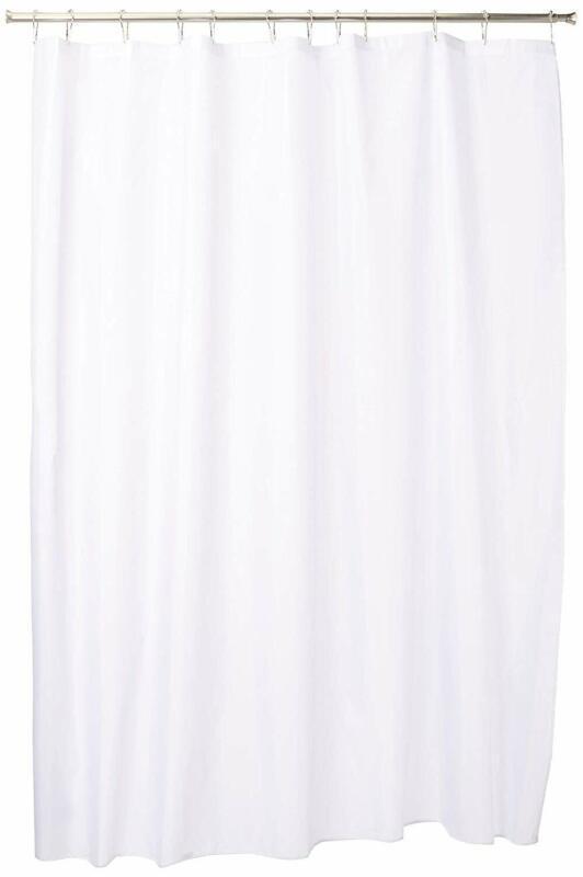 Interdesign Fabric Shower Curtain, Modern Mildew-Resistant Bath Liner For Master