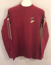 Vintage Nike Multiple Logos Long Sleeve Blue Tag T Shirt Swoosh 80s Medium - $197.99