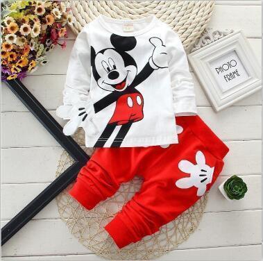 2pcs toddler tracksuit autumn baby cotton cute Minnie t-shirt