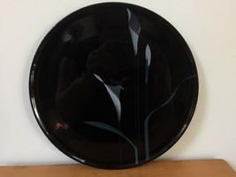 Vintage Mikasa Opus Black FX005 Calla Lilly Cake Plate Serving Platter 1... - $1,000.00