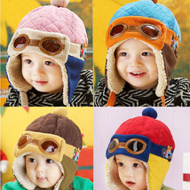 Hot Winter Baby Toddlers Girls Boys Kids Pilot Aviator Cap Warm Soft Bea... - $6.20