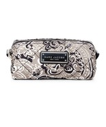 Marc Jacobs Cosmetic Bag Quilted Paisley Narrow Pouch Grey NEW - $69.30
