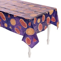 "Pizza Party Tablecloth - 54"" x 104""  -  Plastic Table Cover - $7.59"