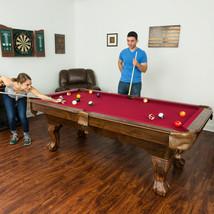 Pool Table 87-Inch Billiards Set Red Cloth Billiard Balls Two Cue Sticks... - $544.89