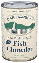 Bar Harbor New England Style  Fish Chowder, Case of Six 15 oz Cans - $24.95