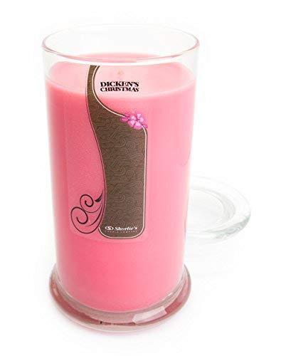 Primary image for Dickens Christmas Candle - 16.5 Oz. Highly Scented Pink Jar Candle - Christmas C