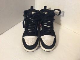 Nike Air Jordan Size 11C Black White Red Shoes 705303-020 - $34.65