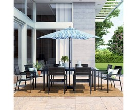Bryant Sturdy 9-Pc. Faux Wood Steel Frame Patio Dining Furniture Set Thr... - €828,48 EUR