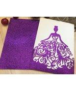 50pcs glitter purple Pocket girl birthday invitations cards,Invitations ... - $53.20