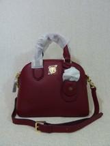 NWT Tory Burch Burgundy Leather Mini Robinson Dome Cross Body bag/Tote  ... - $384.12