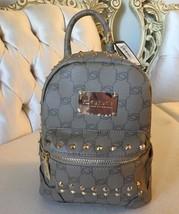 BRAND NEW Bebe Jett Monogram Stud Mini Backpack Taupe Brown Gold Studded - $58.43