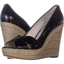 Michael Kors 131917 Wedge Heels 717, Black, 10 US - $53.85