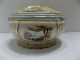 1784 Covered Trinket Dish Lidded Bowl 18th Century Vanity (2) - $31.68
