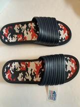 Men tunnel slides sandals blue camo camouflage insole pick size 11-13 image 1