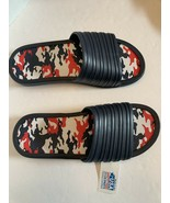Men tunnel slides sandals blue camo camouflage insole pick size 11-13 - $11.95