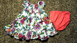 Girl's Size 0-3 M Months Two Piece White Pink Floral Children's Place Dr... - $16.00