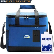 Cooler Bag Ladyker Large Insulated Lunch Bag Lunch Tote Soft Cooler with... - $14.92