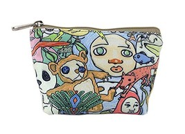 Creative And Vintage Flower Canvas Cosmetic Bags/Purse image 2