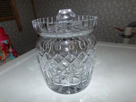 Vintage Waterford Lead Crystal Barrel Biscuit Jar W/LID Glandmore - $123.70