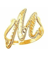 LOOK New Gold plated letter Initial M Elegant ring jewelry - $21.09