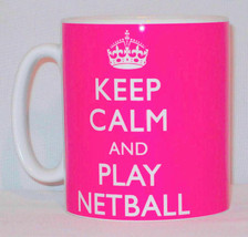 Keep Calm And Play Netball Mug Can Personalise Great Netballer Team Coac... - $10.21