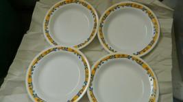 CORELLE CASA FLORA FLAT RIMMED SOUP BOWLS / PLATES X 4 8.5 INCH BRAND NEW! - $93.49