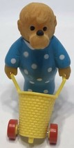 1986 McDonalds Berenstain Bears Mama Bear with Yellow Cart Basket - $4.89