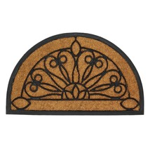 Home Welcome Mat, Half Moon Outdoor Decorative 18x30 Coir Doormat - $33.29