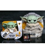 3 STAR WARS Mandalorian CHILD Yoda LOT Electronic Talking Plush Black Se... - $149.99