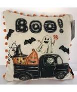 Halloween Ghost Jack O Lantern Boo Throw Pillow Spooky Holiday Home Deco... - $25.99