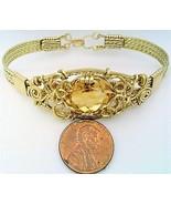 Citrine Gold Wire Wrap Bracelet Sz. 7.5 - $78.00