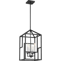Quoizel PON5204GK Portion Modern Geometric Chandelier, 4-Light, 240 Watt... - $125.86