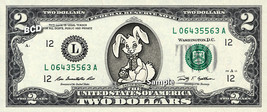 Easter Bunny On Real Two Dollar Bill Cash Money Collectible Memorabilia Celebrit - $12.22