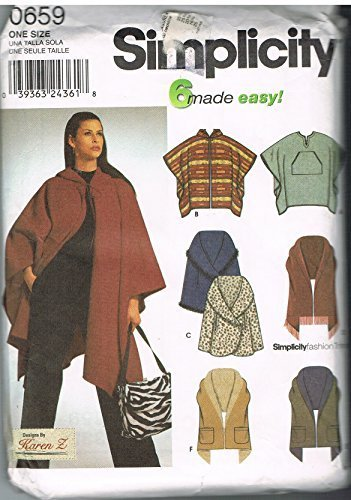 Simplicity 0659 Six Made Easy Poncho and and 50 similar items
