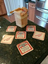 VINTAGE BUDWEISER COASTERS 98 Total! From pack of 100 - Beechwood Aged! - $92.01