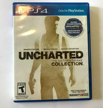 Uncharted The Nathan Drake Collection PS4 Game With Case Used Naught Dog... - $11.90 CAD