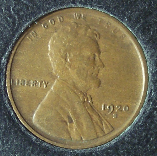 1920-S Lincoln Wheat Back Penny EF #990