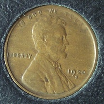 1920-S Lincoln Wheat Back Penny EF #990 - $7.99