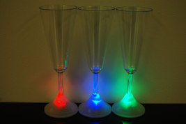 2 Pack 8 Mode Color Changing LED Champagne Glass - $9.95