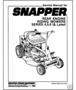 Snapper Rear Engine Riding Mower Series 4,5,6 (& Later) - $13.85