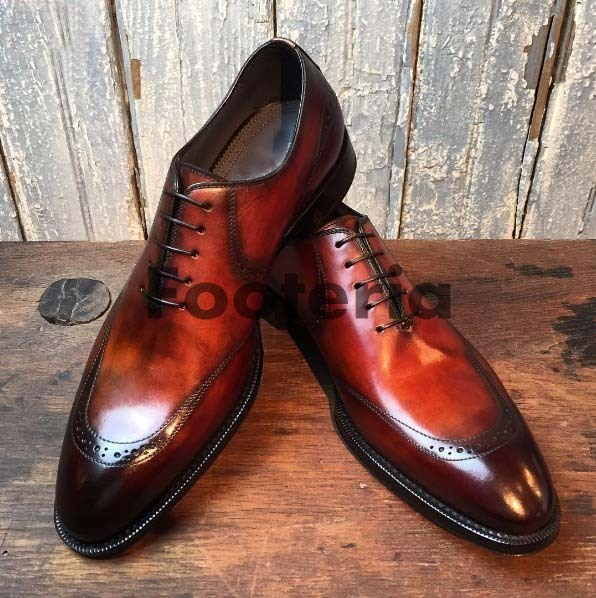 b1d5be93e3146 Handmade men leather shoes, brown shaded and 50 similar items