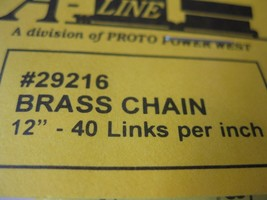 """A-Line #29216 Brass Chain 12"""" - 40 Links per inch image 2"""