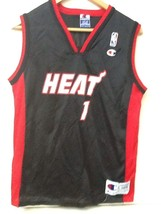 Miami Heat #1 Champion Jersey Youth Large (14-16) - $11.95