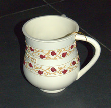 Judaica Polyresin Red Floral Decoration Hand Washing Cup Netilat Yadayim Natla image 2