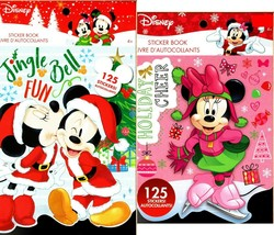 Holiday Christmas Sticker Books - Disney Minnie and Mickey Mouse 125 Stickers!  - $14.84