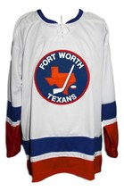 Fort worth texans retro hockey jersey white   1 thumb200
