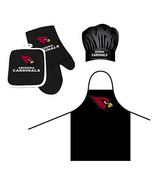 NFL Arizona Cardinals Barbeque Apron, Chef's Hat and Pot Holder Deluxe Set - $27.86