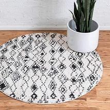 Rugs.com Morocco Collection Rug – 4 Ft Round Ivory High-Pile Rug Perfect for Kit - $79.00