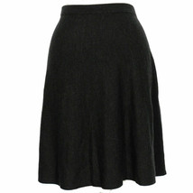EILEEN FISHER Charcoal Gray Fine Merino Wool Knit Flared Short Skirt XL - $129.99